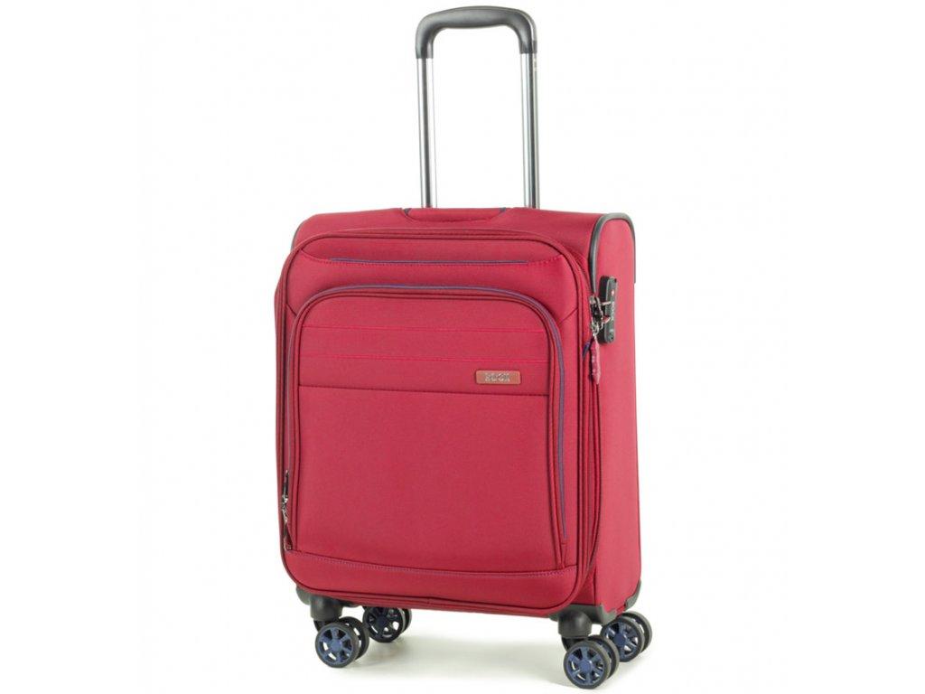 kabinová batožina ROCK TR-0162/3-S - červená  + LED Čelovka 3W