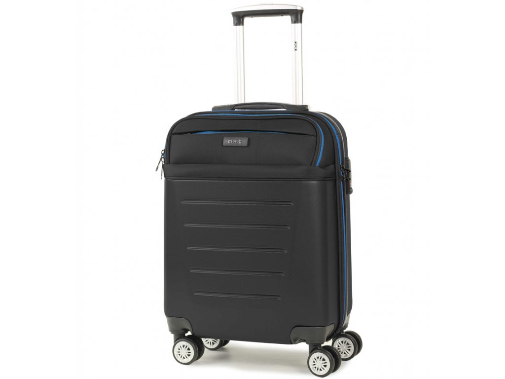 kabinová batožina ROCK TR-0166/3-S ABS/PES - čierna  + LED svítilna