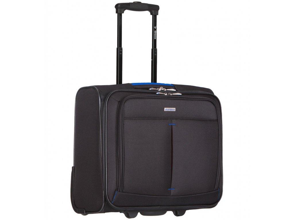 kufor příruční na notebook Sirocco T-1103 - čierna/modrá  + LED Čelovka 3W