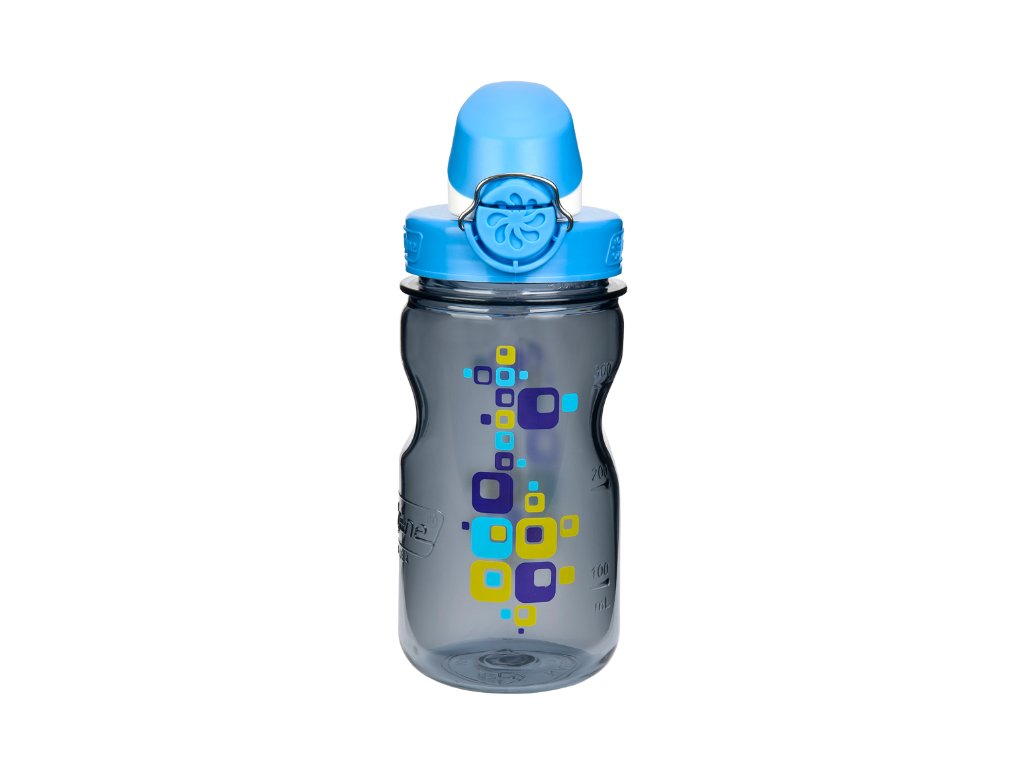 Nalgene OTF Kids 350 ml Gray Squares - láhev pro děti