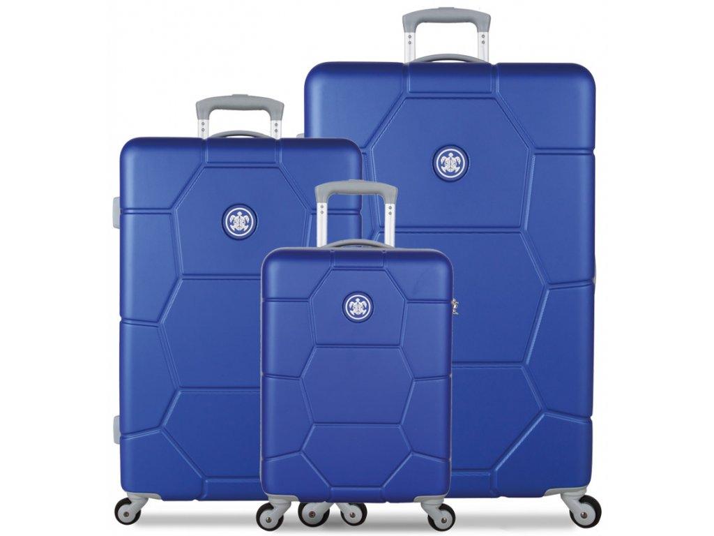 Sada cestovných kuforů SUITSUIT® TR-1225/3 ABS Caretta Dazzling Blue  + LED svítilna