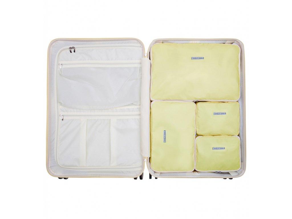 Sada obalů SUITSUIT® Perfect Packing system vel. L Mango Cream  + LED svítilna