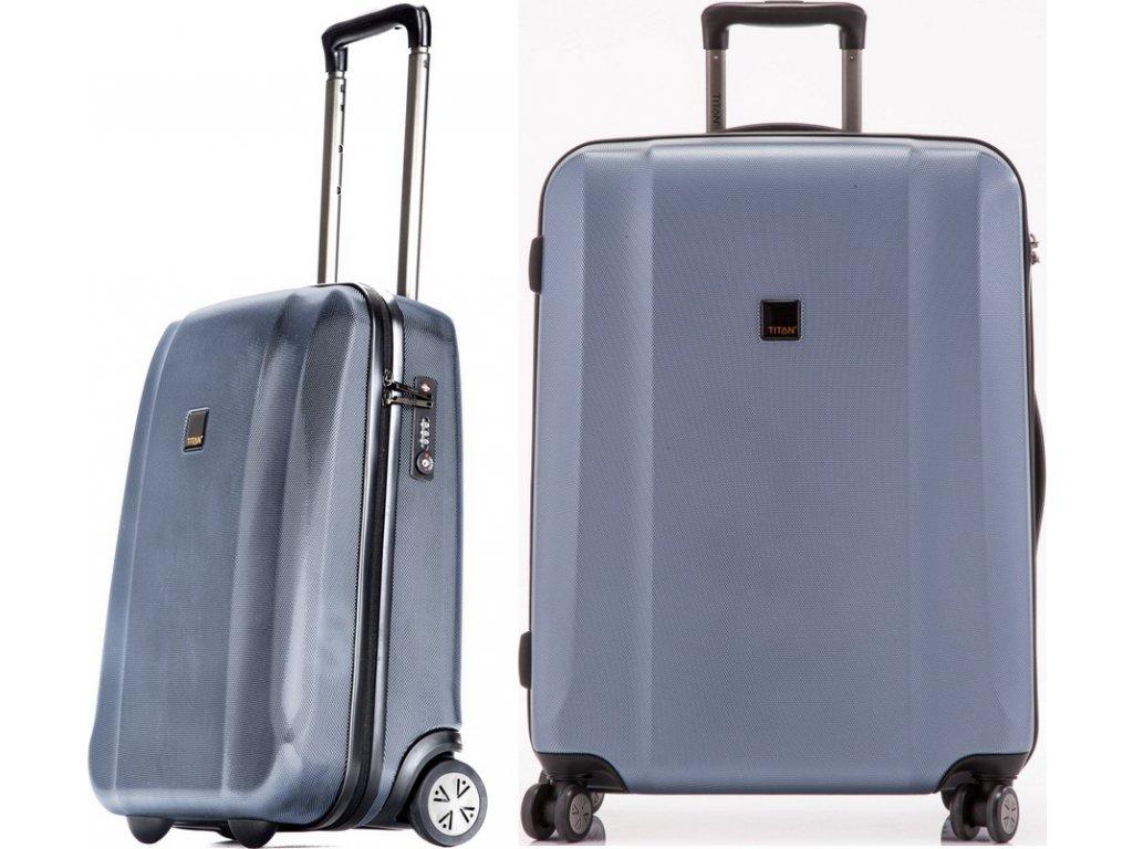 Titan Xenon S,L Blue Stone - sada 2 kufrů
