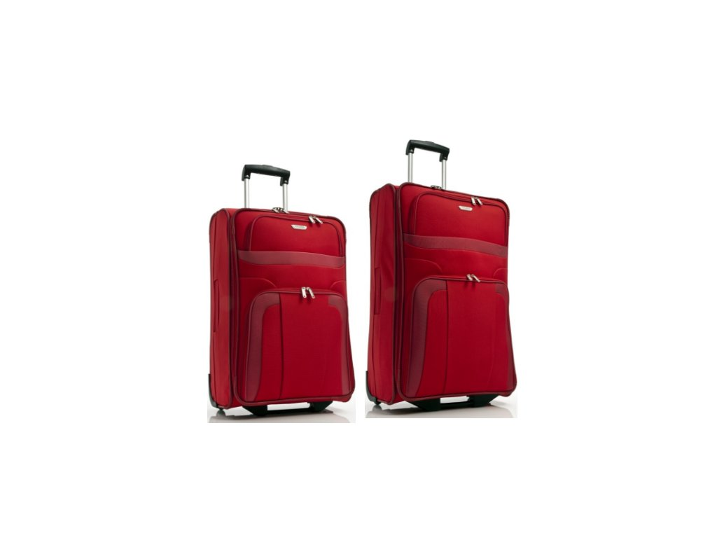 Travelite Orlando M, L Red - sada 2 kufrů