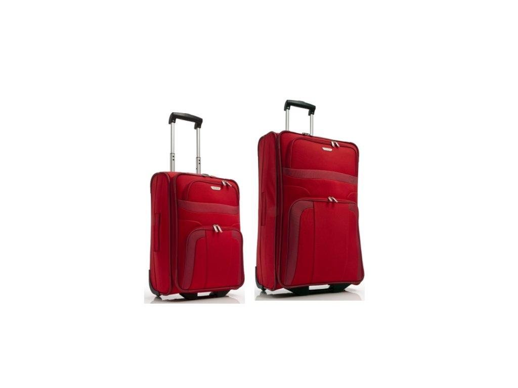 Travelite Orlando S, L Red - sada 2 kufrů