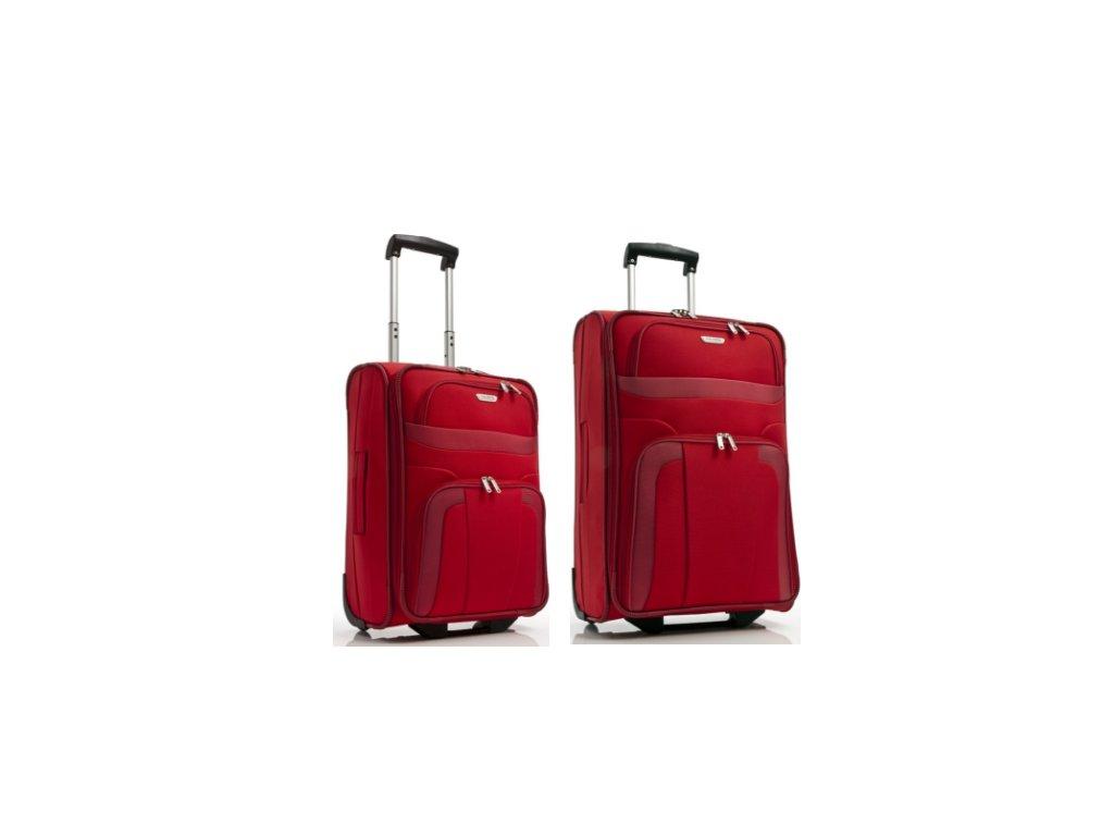 Travelite Orlando S, M Red - sada 2 kufrů