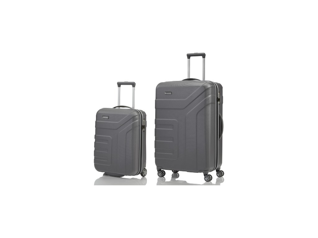 Travelite Vector 2w S, 4w L Anthracite - sada 2 kufrů