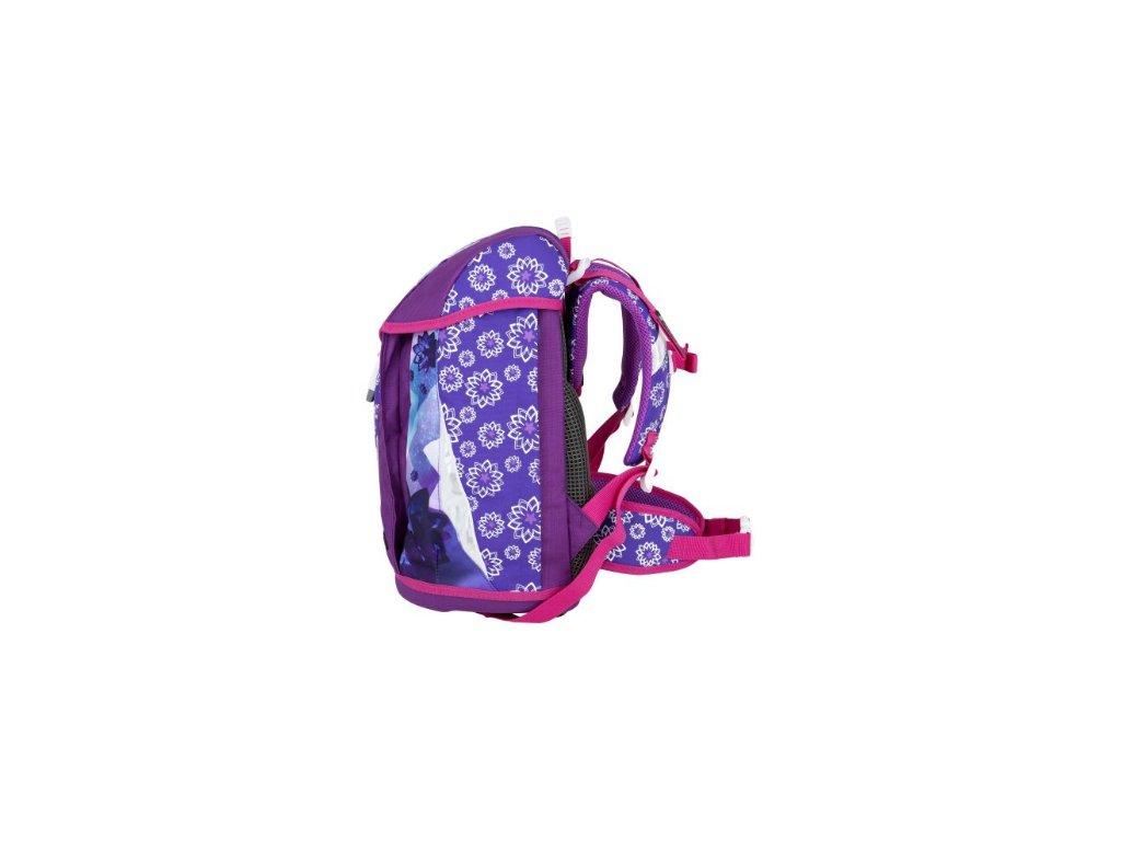 eac2aff27a ... Bagmaster POLO 6 A VIOLET PINK Dívčí školní aktovka pro prvňáčka + LED  Svítilna ...