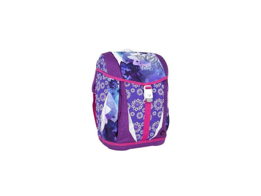 06a9ec44e2 Bagmaster POLO 6 A VIOLET PINK Dívčí školní aktovka pro prvňáčka + LED  Svítilna