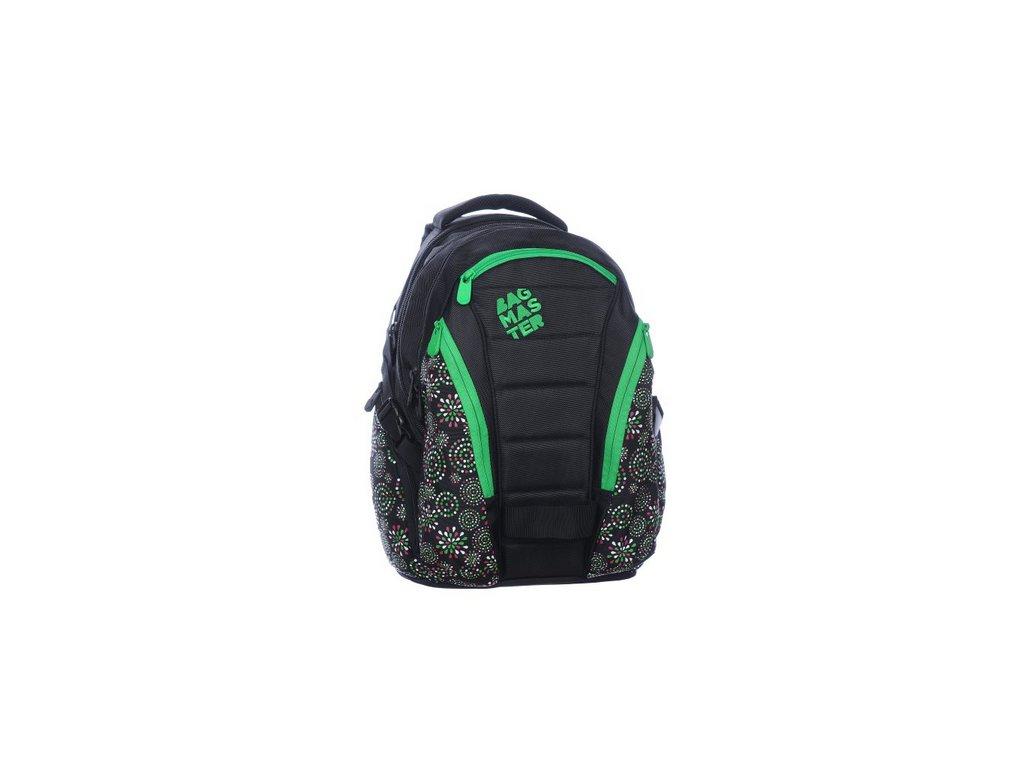 Bagmaster Studentský batoh BAG 0215 D BLACK/GREEN