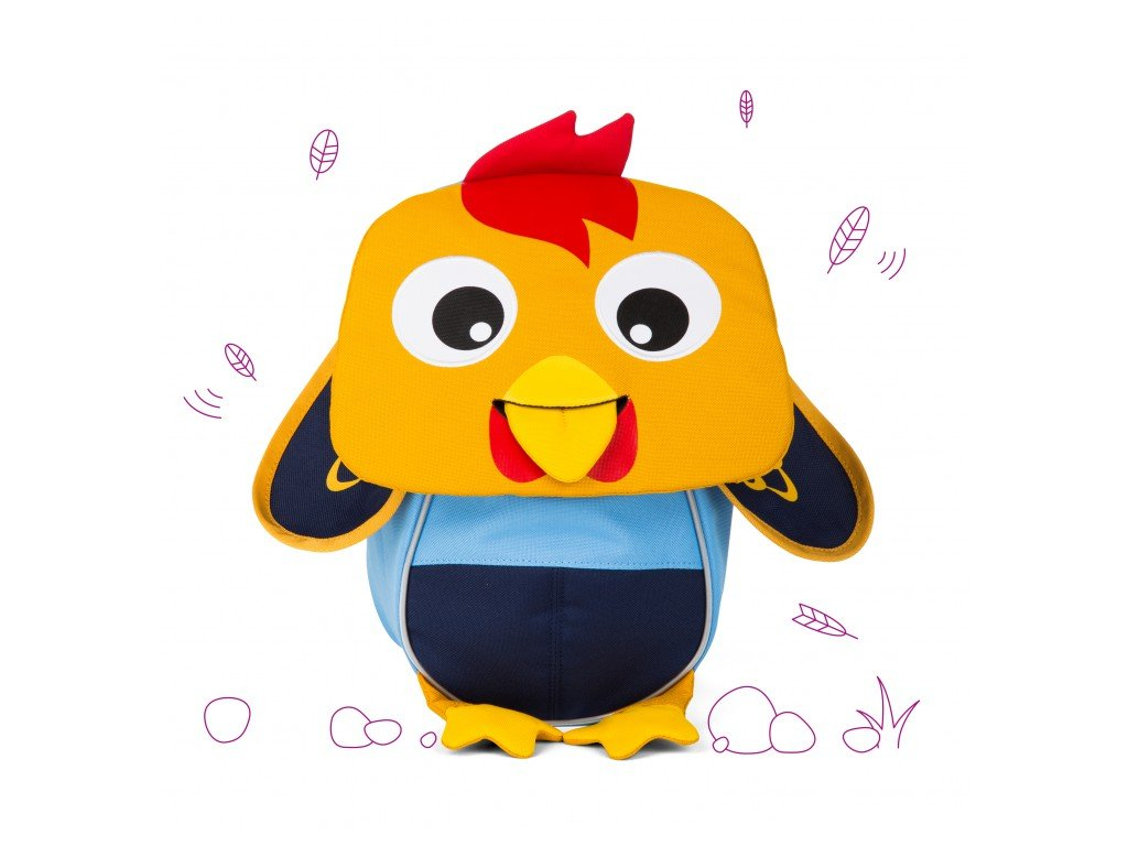 Batůžek pro nejmenší Affenzahn Richi Rooster - yellow