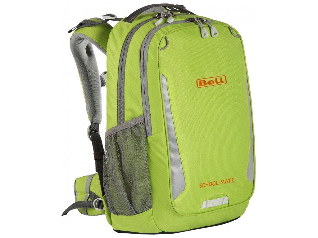 BOLL SCHOOL MATE 18 LIME - Školní batoh  + LED svítilna