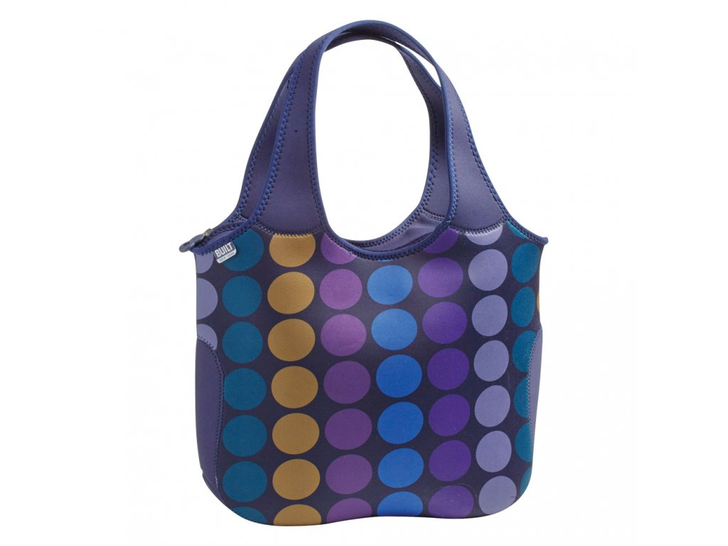 Built Essential Neoprene Tote Plum Dot  + LED svítilna