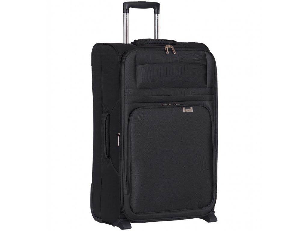 cestovný kufor AEROLITE T-9515/3-M - čierna  + LED svítilna
