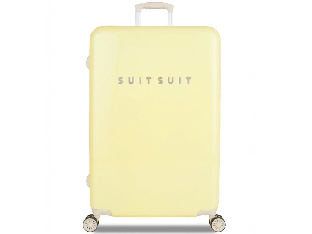 cestovný kufor SUITSUIT® TR-1220/3-L - Fabulous Fifties Mango Cream  + LED svítilna
