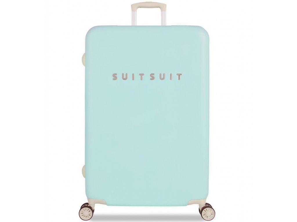 cestovný kufor SUITSUIT® TR-1222/3-L - Fabulous Fifties Luminous Mint  + LED svítilna + zľava 10% s kódom AKCE10