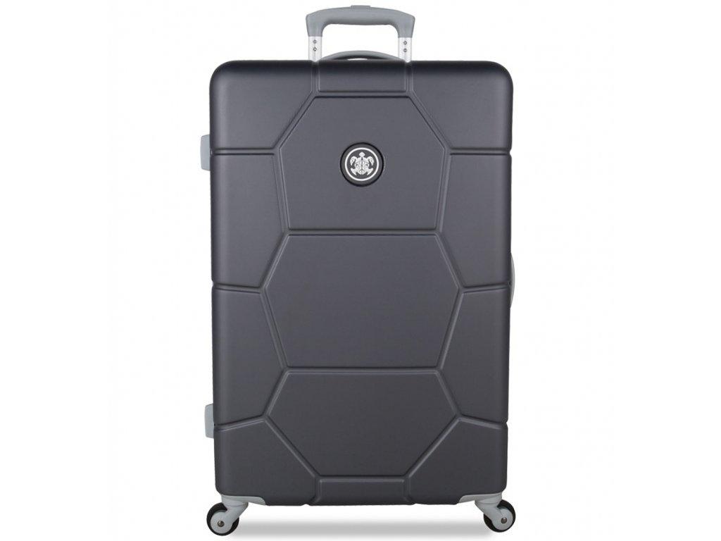 cestovný kufor SUITSUIT® TR-1226/3-M ABS Caretta Cool Gray  + LED svítilna