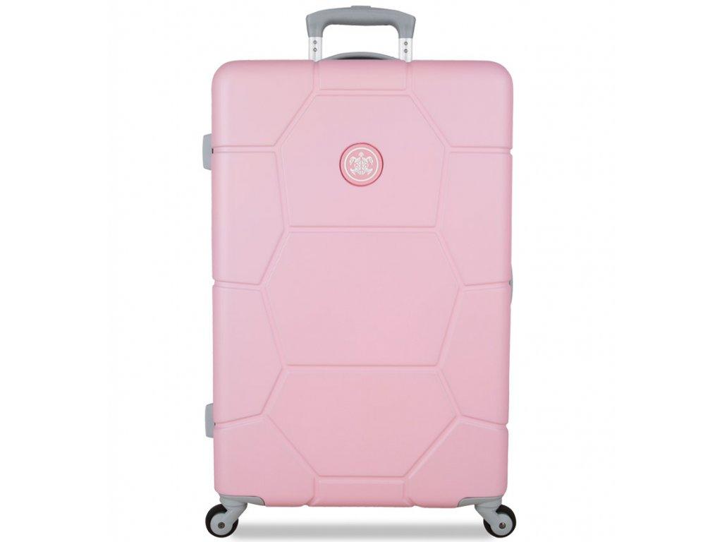 cestovný kufor SUITSUIT® TR-1231/3-M ABS Caretta Pink Lady  + LED svítilna