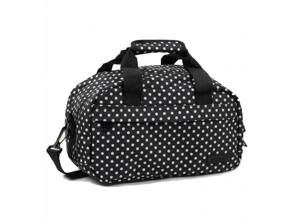 Cestovná taška MEMBER'S SB-0043 - čierna/biela
