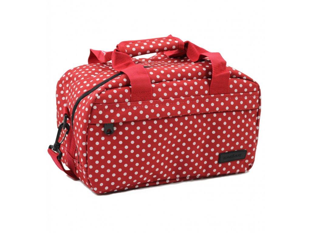 Cestovná taška MEMBER'S SB-0043 - červená/biela