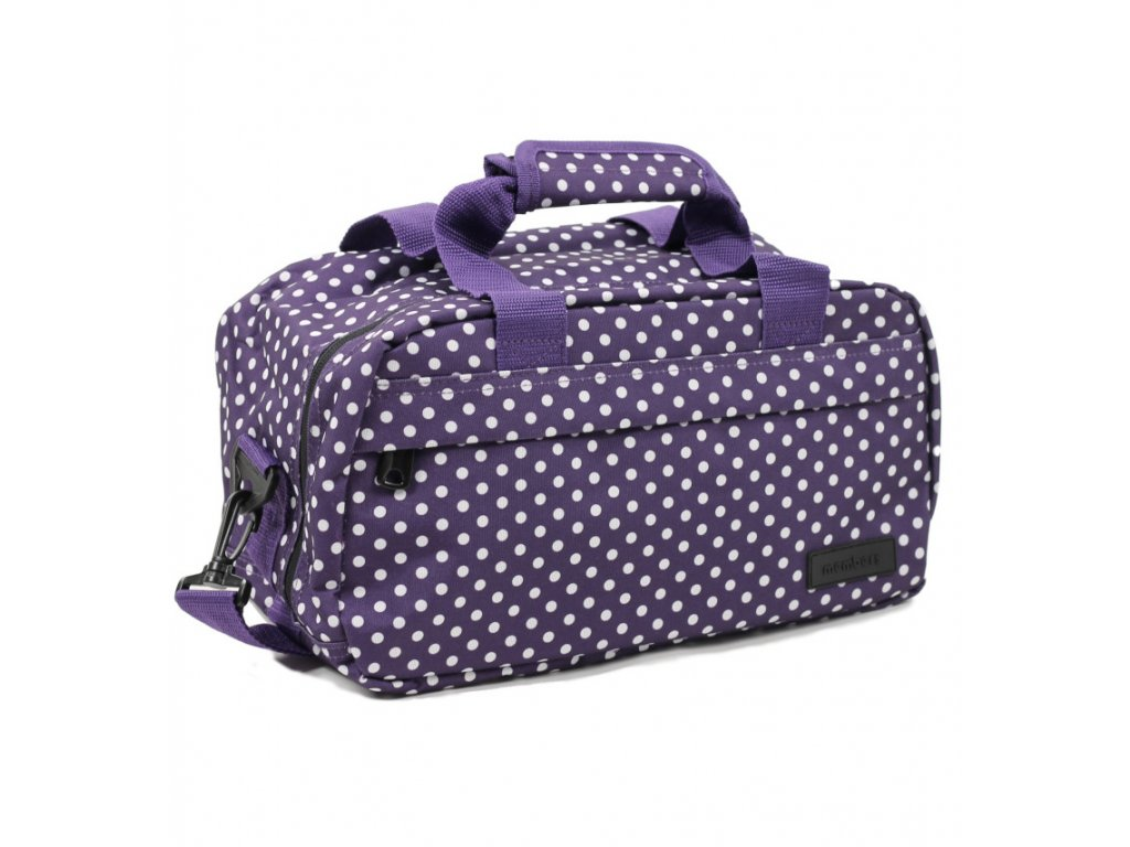 Cestovná taška MEMBER'S SB-0043 - fialová/biela