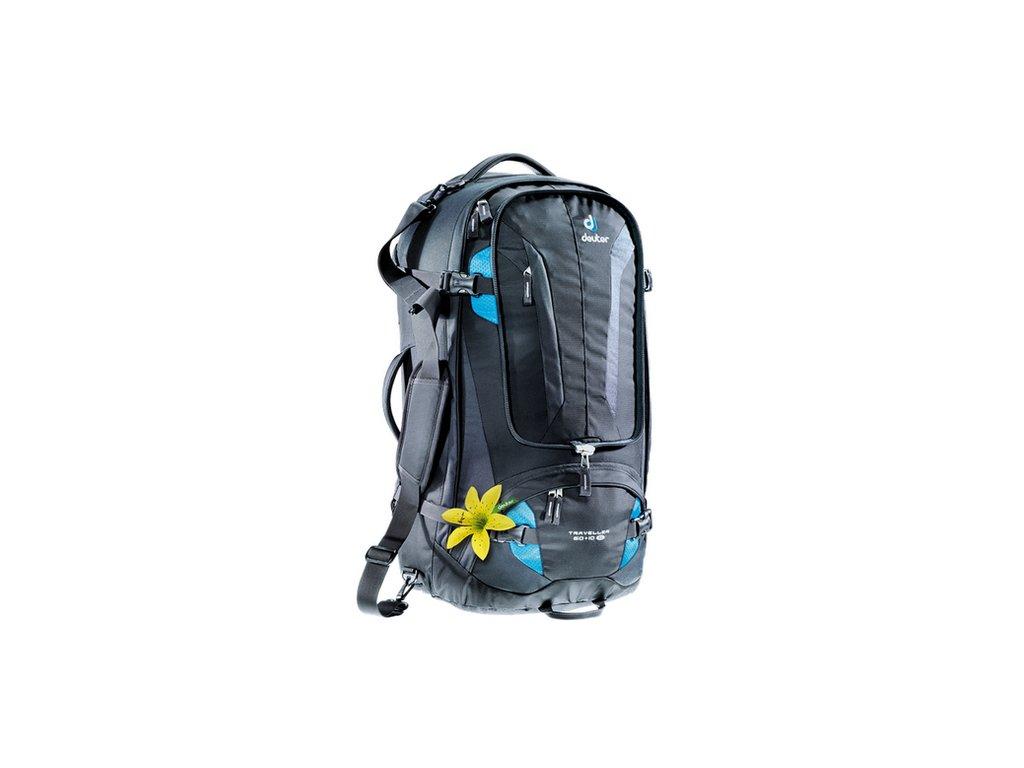 5a86a60b07 ... Deuter Traveller 60+10 SL black-turquoise - Batoh + LED Svítilna ...