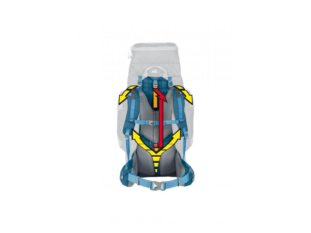 409d4ab5ff Ferrino Transalp 60 Lady blue + LED Svítilna - SvetBatohov.sk