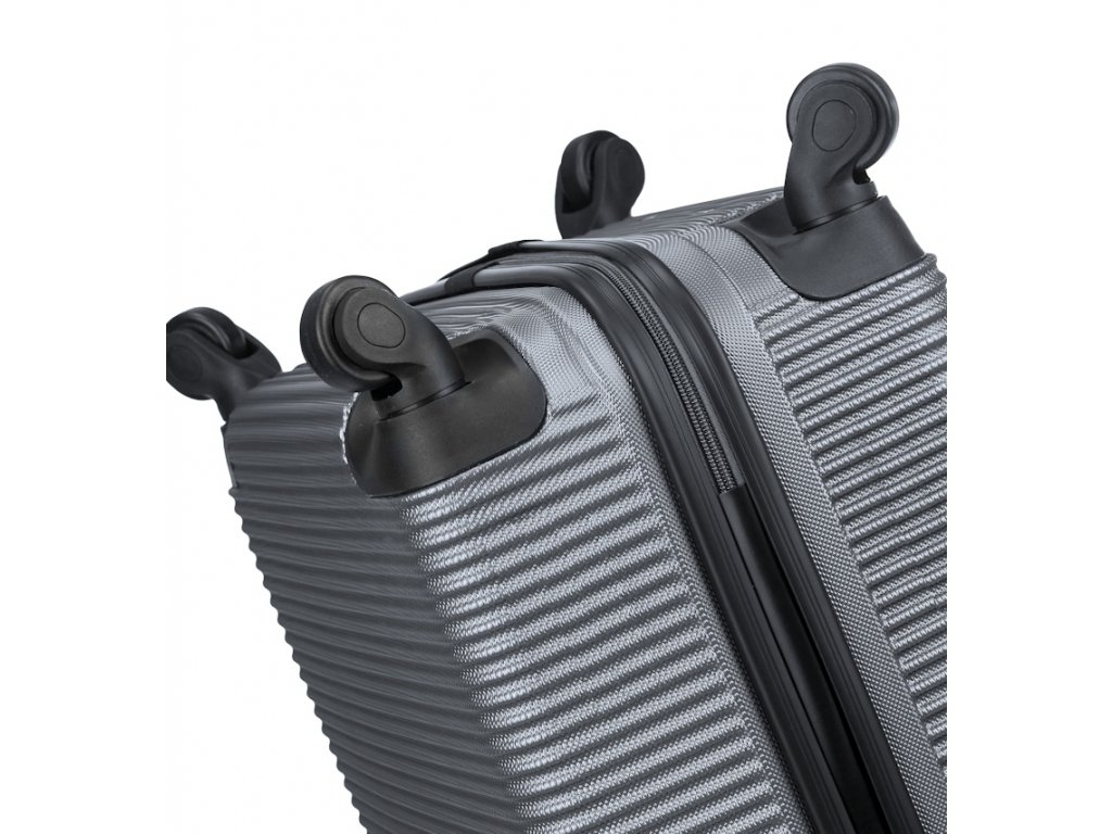 02952f64abf4e ... kabinová batožina SIROCCO T-1039/3-50 ABS - strieborná + LED Svítilna  ...