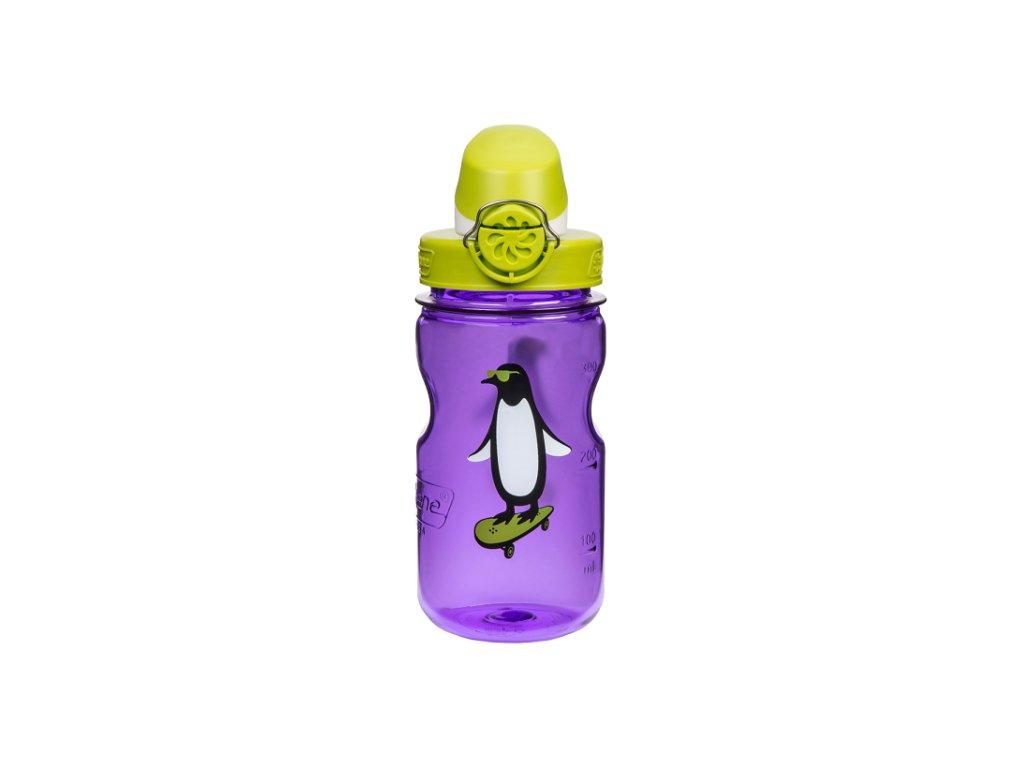 Nalgene OTF Kids 350 ml Purple Penguin - láhev pro děti