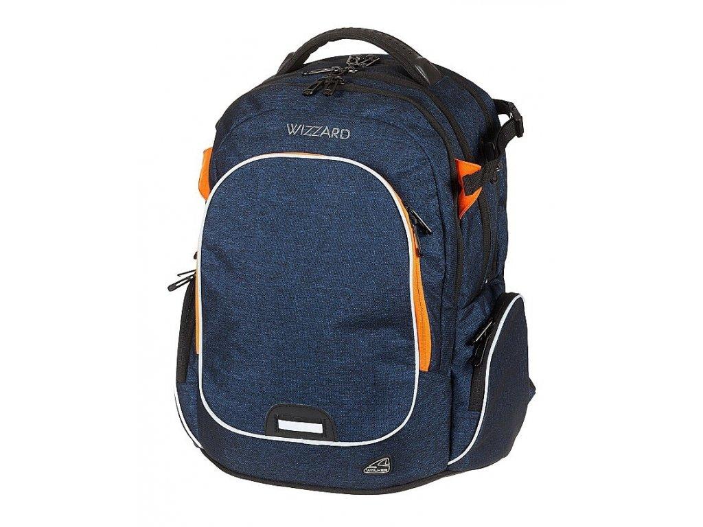 Studentský batoh WIZZARD Blue  + LED Svítilna