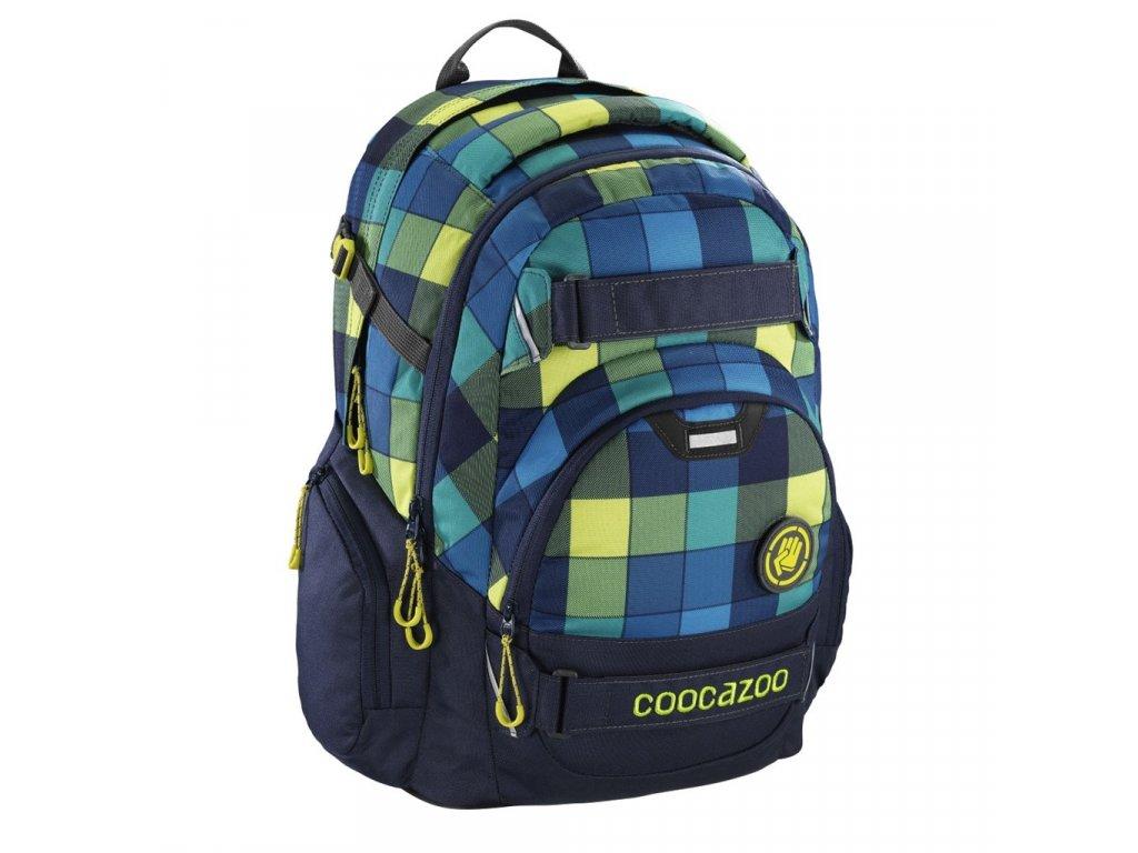 Školní batoh Coocazoo CarryLarry2, Lime District  + LED svítilna