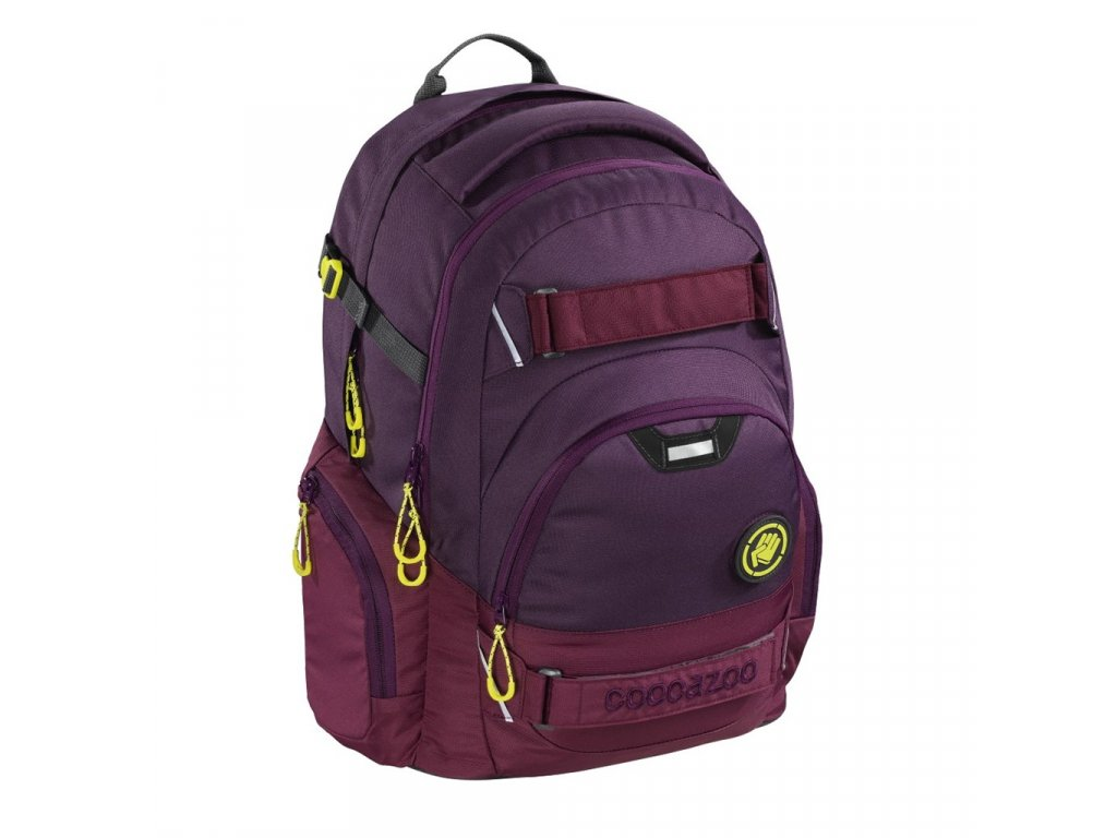 Školní batoh Coocazoo CarryLarry2, Solid Berryman  + LED svítilna + zľava 10% s kódom AKCE10