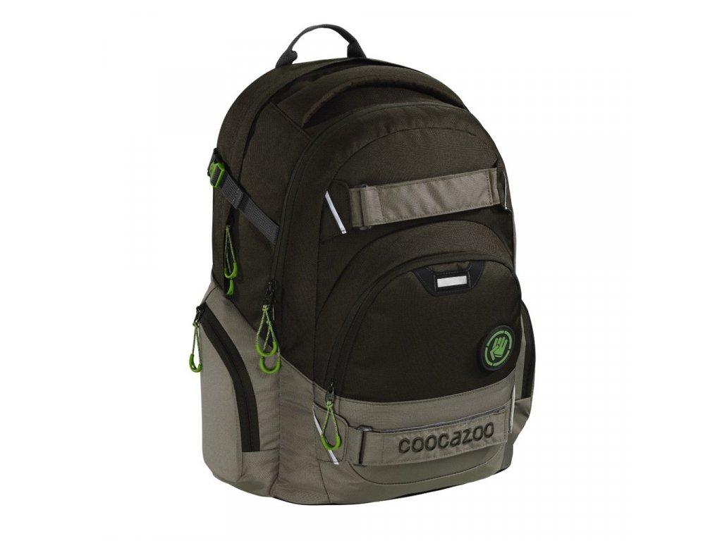 Školní batoh Coocazoo CarryLarry2, Solid Woodsman  + LED Čelovka 3W