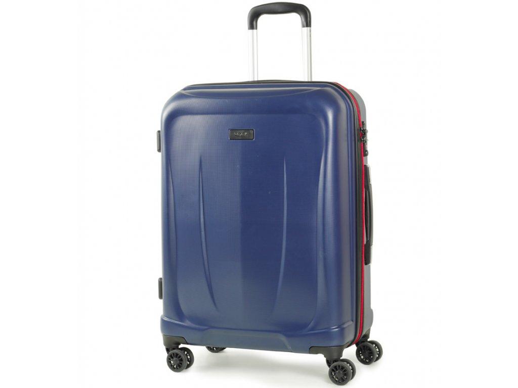 2b8dccb23414c cestovný kufor ROCK TR-0165/3-M ABS - modrá + LED Svítilna ...