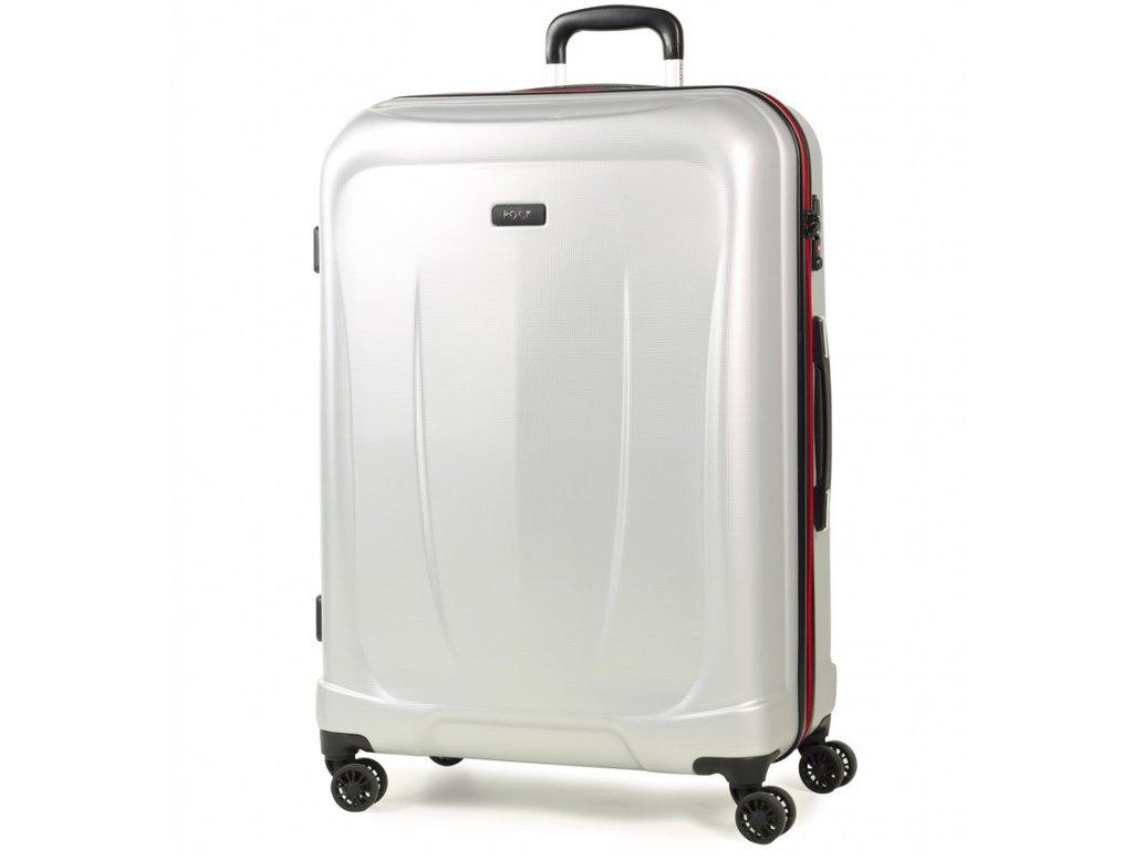 8044106f5f35e cestovný kufor ROCK TR-0165/3-L ABS - strieborná + LED Svítilna ...
