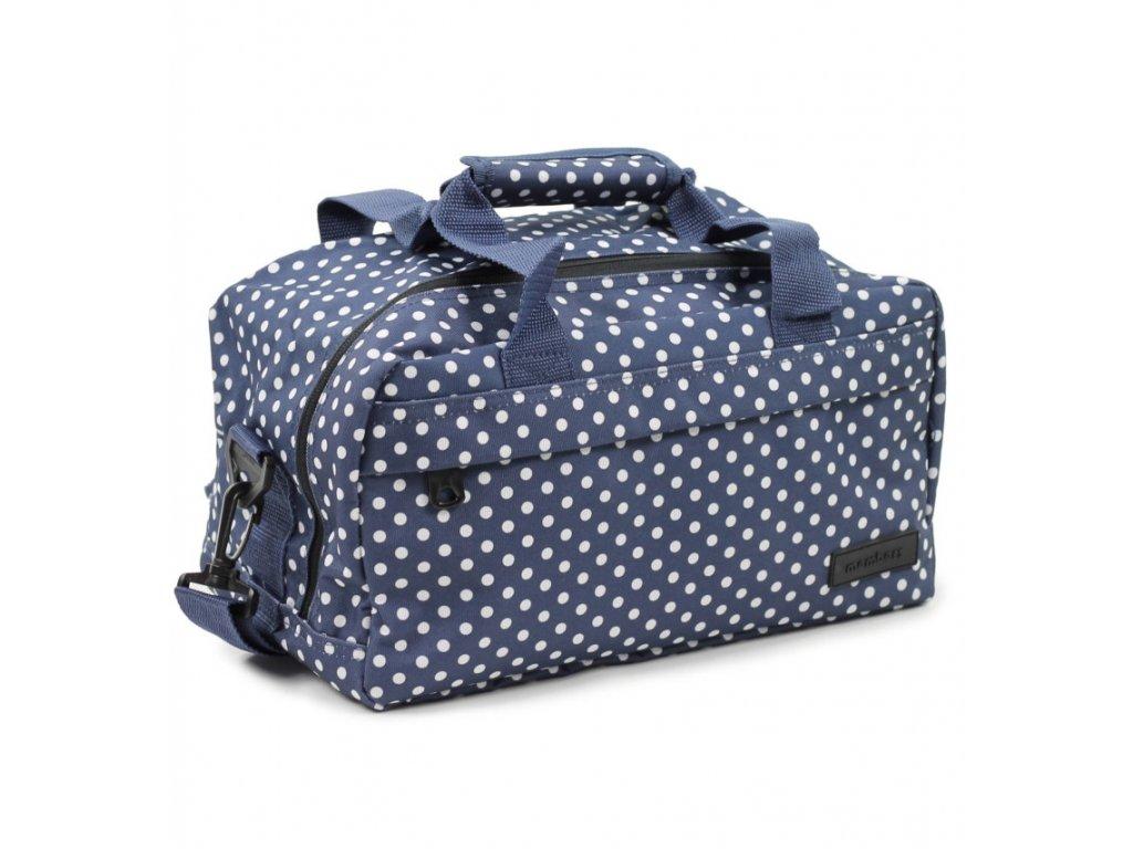 8014fc8b76c1b Cestovná taška MEMBER'S SB-0043 - modrá/biela - SvetBatohov.sk