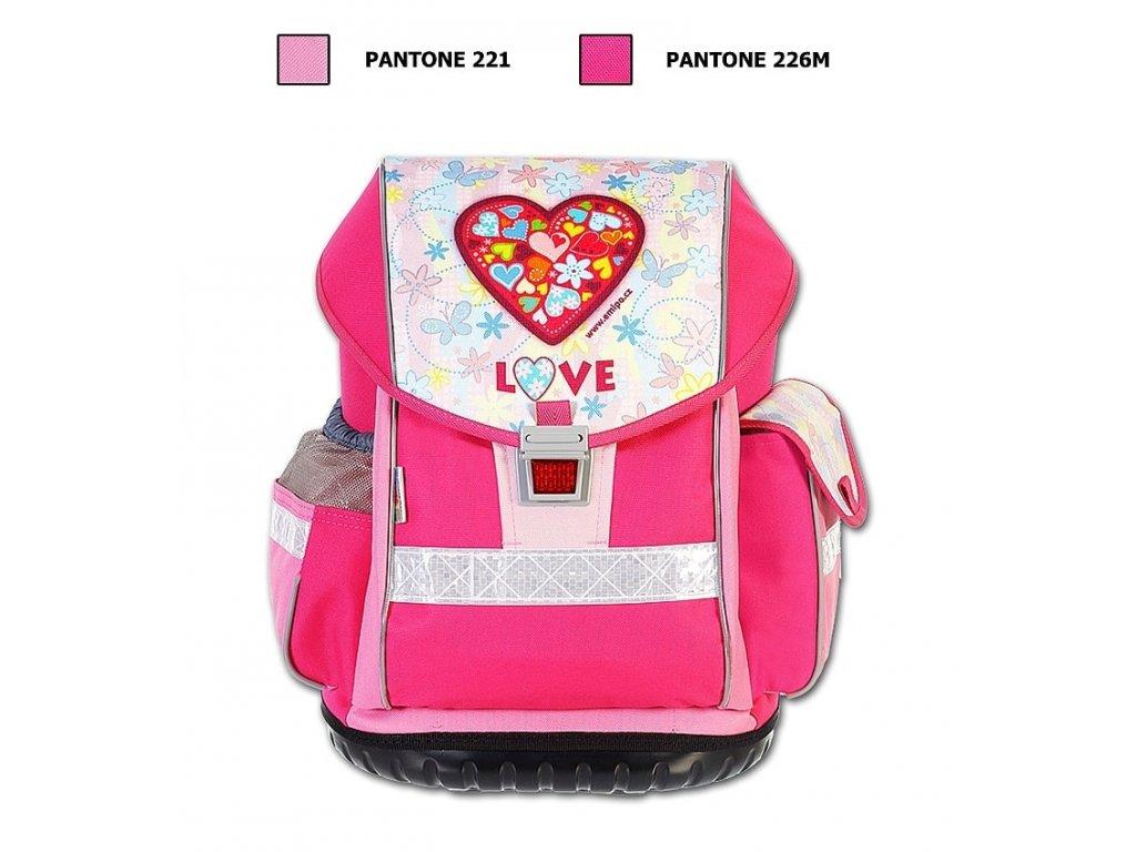 1318935565 Školní batoh ERGO TWO Love + LED Svítilna - SvetBatohov.sk