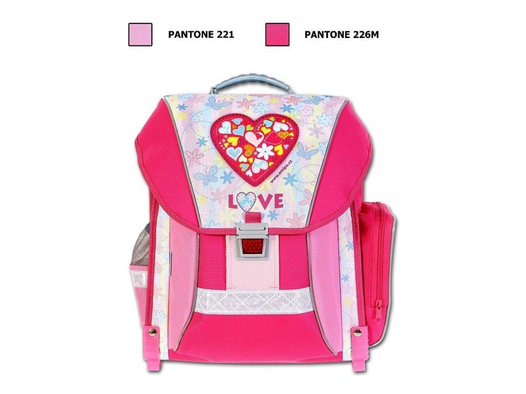 6ad587e717 Školní batoh Love + LED Svítilna - SvetBatohov.sk