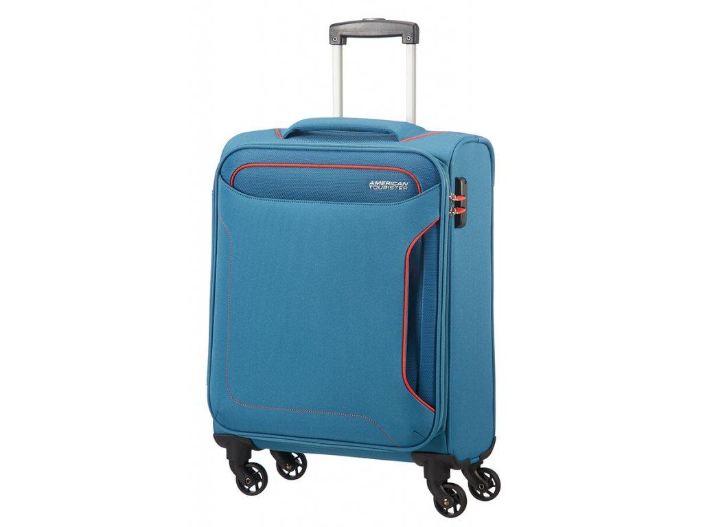 4e04e9e15b2b0 American Tourister HOLIDAY HEAT S 55 cm Denim Blue + LED Svítilna ...