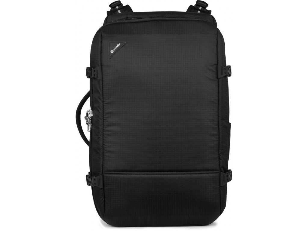 163862 pacsafe batoh vibe 40l carry on backpack jet black
