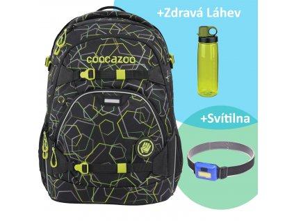 Školní batoh coocazoo ScaleRale, Laserbeam Black, certifikát AGR sk