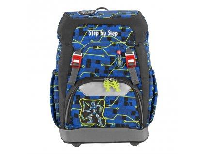 Školní batoh Step by Step GRADE Robot  + LED Čelovka 3W