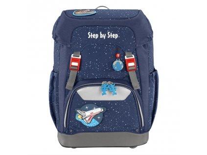 Školní batoh Step by Step GRADE Vesmírná raketa  + LED Čelovka 3W
