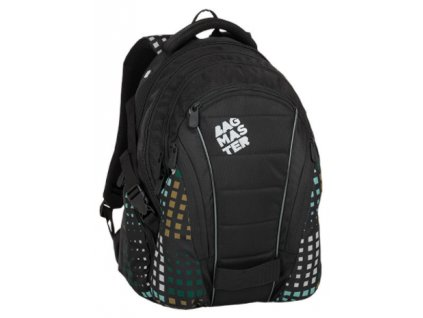 Bagmaster BAG 8 D BLACK/GREEN/GRAY  + LED Čelovka 3W