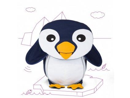 Batůžek pro nejmenší Affenzahn Pepe Penguin - black