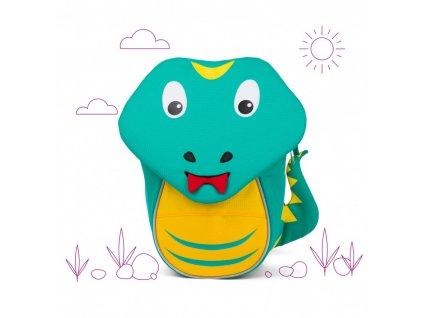 Batůžek pro nejmenší Affenzahn Samuel Snake - turquoise