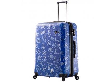 cestovný kufor MIA TORO M1089/3-L - modrá  + LED svítilna