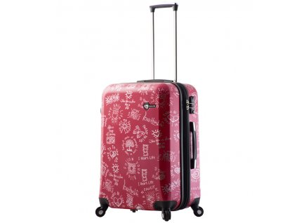 cestovný kufor MIA TORO M1089/3-M - červená  + LED Čelovka 3W