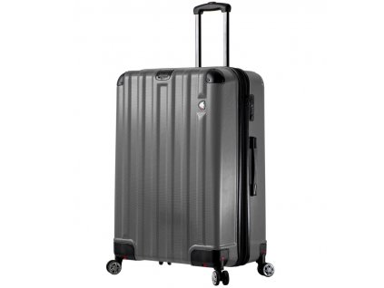 cestovný kufor MIA TORO M1300/3-L - charcoal  + LED svítilna + zľava 10% s kódom AKCE10