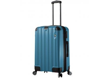cestovný kufor MIA TORO M1300/3-M - modrá  + LED svítilna